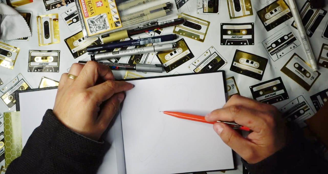 Idea ¿De dónde vienen las ideas en el dibujo? Inktober Día 03