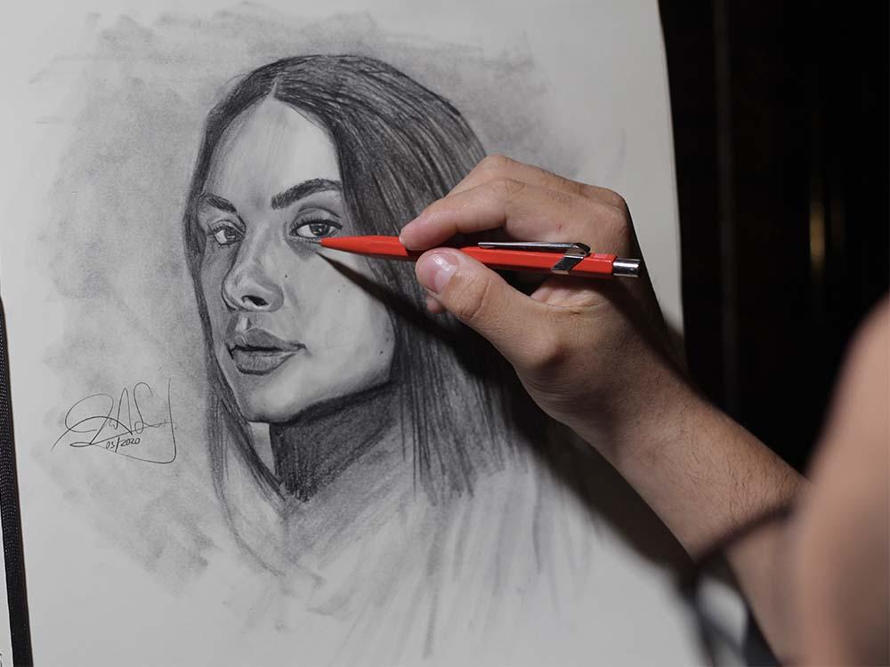 EL BOCETO: 4 métodos de iniciar el boceto de retrato